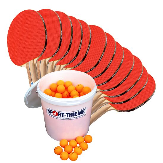 """Sport-Thieme® Tischtennis-Schulsportset """"Rom"""" Bälle Orange"""