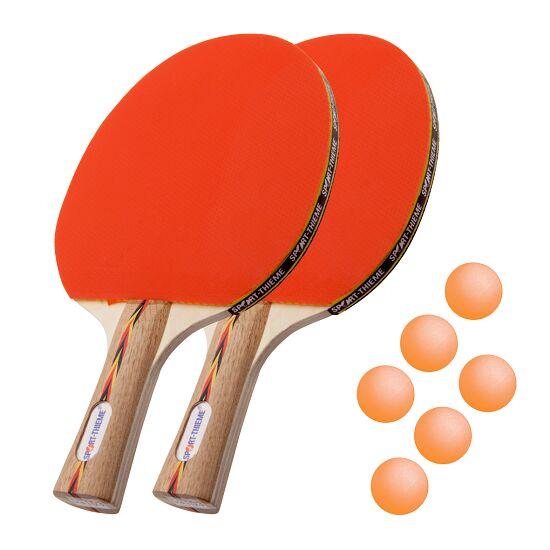 "Sport-Thieme Tischtennisschläger-Set ""Berlin"" Bälle Orange"