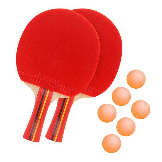 """Sport-Thieme® Tischtennisschläger-Set """"Competition"""" Bälle Orange"""