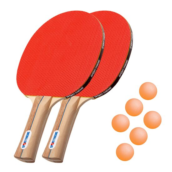 """Sport-Thieme® Tischtennisschläger-Set """"Rom"""" Bälle Orange"""