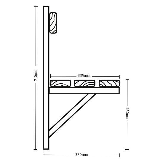 Sypro Wandbank für Feuchträume 1,01 m