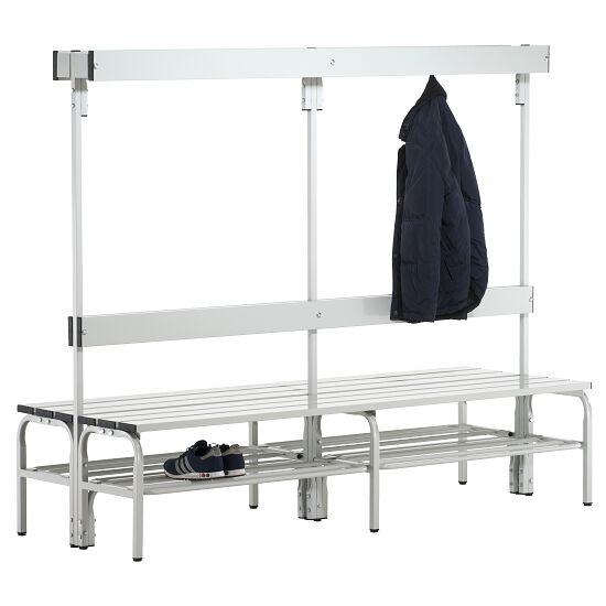 Sypro Wolf® Umkleidebank für Nassräume mit Rückenlehne, doppelseitig 2,00 m, Mit Schuhrost