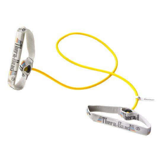 TheraBand™ Bodytrainer Tubing 1,4 m mit Griffen Gelb, leicht