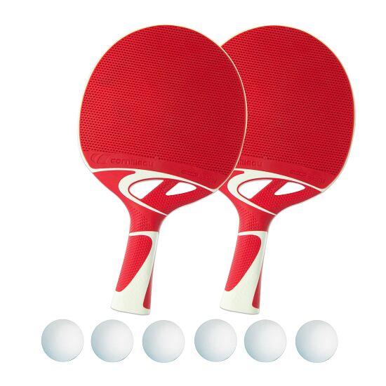 "Tischtennisschläger-Set ""Tacteo 50"" Bälle Weiß"