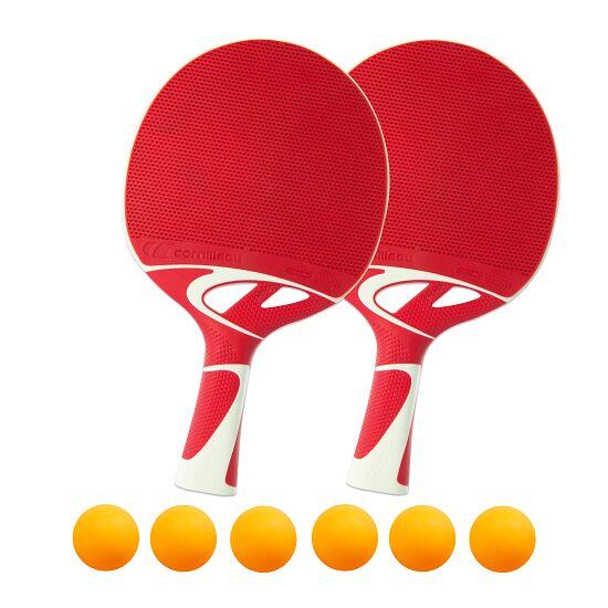 "Tischtennisschläger-Set ""Tacteo 50"" Bälle Orange"