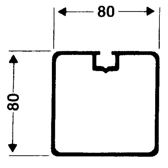 Transportrollen für freistehende Tore Quadrat-Profil 80x80 mm, Profilnut normal