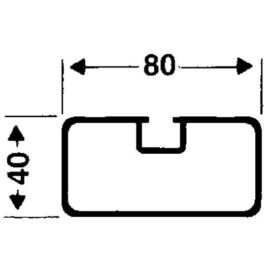 Transportrollen für freistehende Tore Rechteckprofil 80x40 mm, Profilnut normal
