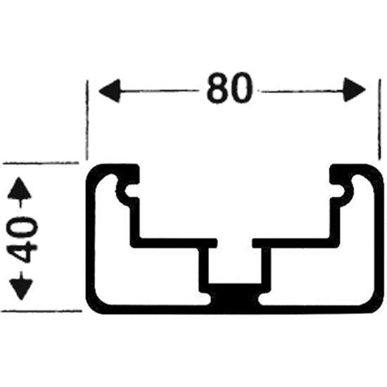 Transportrollen für freistehende Tore Rechteckprofil 80x40 mm, Profilnut tiefer liegend