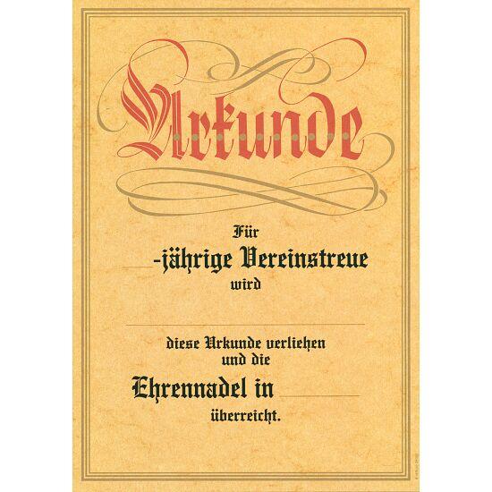"""Urkunde """"Jubiläum / Vereinstreue"""""""