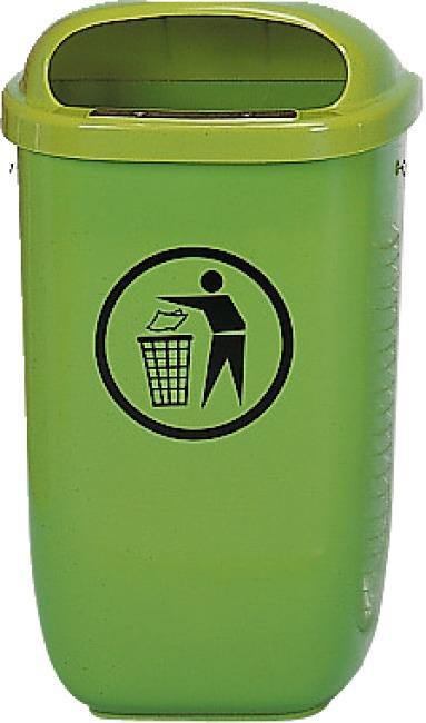 Abfallkorb nach DIN Standard, Grün