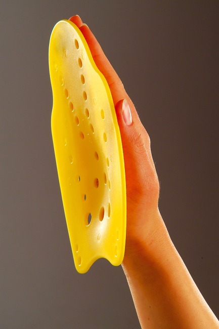 Beco Hand-Paddles Größe S, 18x13 cm, Gelb