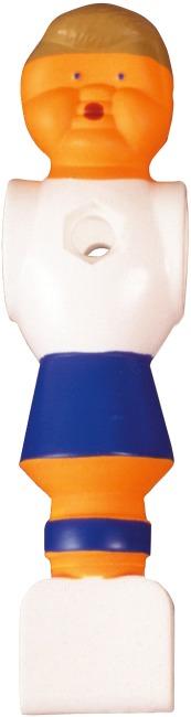Fußball-Kickerfigur Weiß-Blau