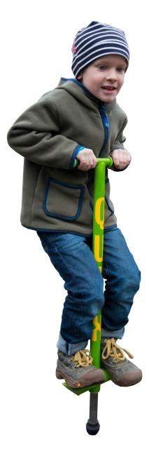 Qu-Ax® Pogo-Stick Neongrün, L: 86 cm, bis 20 kg
