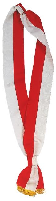 Schärpen Rot-Weiß, 7,5x190 cm