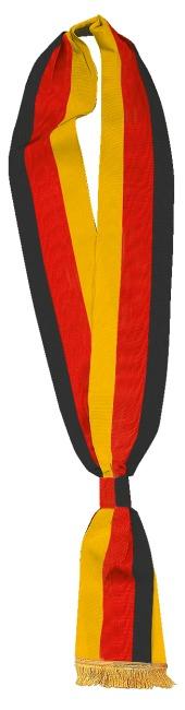 Schärpen Schwarz-Rot-Gold, 7,5x190 cm