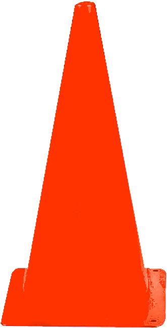 Sport-Thieme® Sport-Thieme® Markierungskegel 20,5x20,5x37 cm, Orange