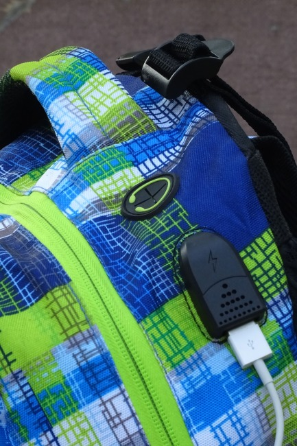 Wheel Bee® LED Rucksack Blau-Grün