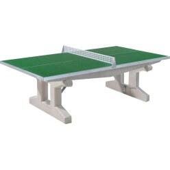 """Sport-Thieme® Polymerbeton-Tischtennisplatte """"Premium"""" Kurzer Fuß, freistehend, Grün"""