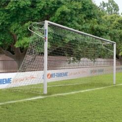 Sport-Thieme® Alu-Fußballtore, 7,32x2,44 m, eckverschweißt, in Bodenhülsen stehend