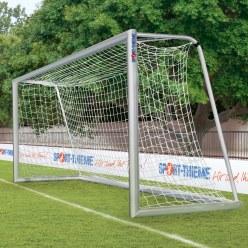 Jugendfußballtor 5x2 m vollverschweißt, mit Bodenrahmen 120x100 mm im Oval-Profil