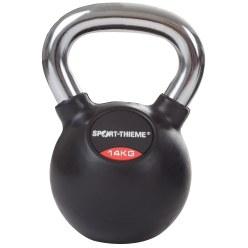 Sport-Thieme Kettlebell  gummiert mit glattem Chrom-Griff