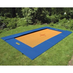 Eurotramp Bodentrampolin Master, Grau-Orange