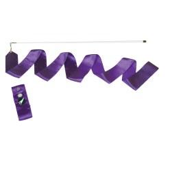 Sport-Thieme® Gymnastik-Wettkampf-Band mit Stab Violett, Mädchen, Länge 5 m