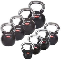 Sport-Thieme® Kettlebell Set gummiert mit glattem Chrom-Griff