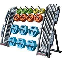 Hot Iron Ablageständer mit Dornen für 10 kg Hantelscheiben