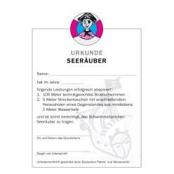 """Urkunde """"Seeräuber"""""""