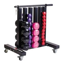 Sport-Thieme Fahrbarer Ablageständer für Gymnastikhanteln