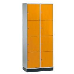 """Großraum-Schließfachschrank """"S 4000 Intro"""" (4 Fächer übereinander) Viridingrün (RDS 110 80 60), 195x82x49 cm/ 8 Fächer"""