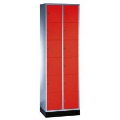 """Schließfachschrank """"S 4000 Intro"""" (6 Fächer übereinander) Lichtgrau (RAL 7035), 195x62x49cm/ 12 Fächer"""