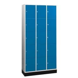 """Großraum-Schließfachschrank """"S 4000 Intro"""" (5 Fächer übereinander) Enzianblau (RAL 5010), 195x85x49 cm/ 10 Fächer"""