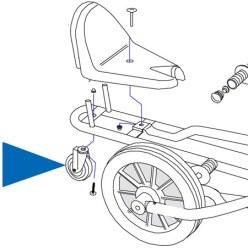 Hinterrad / Stützrad für Swingcart®