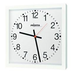 Peweta Großraum-Wanduhr 40x40 cm, Netzbetrieb 230 V Ballwurfsicher, Zifferblatt arabische Zahlen