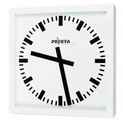 Peweta® Großraum-Wanduhr 50x50 cm, Netzbetrieb