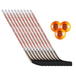 "Set Streethockey ""Kinder"" plus 3 Bälle"