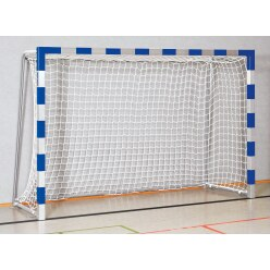 Sport-Thieme Hallenhandballtor  3x2 m, in Bodenhülsen stehend Schwarz-Silber, Verschweißte Eckverbindungen