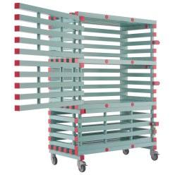 REA® Kunststoff Regalwagen, abschließbar