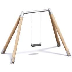 Playparc Einfachschaukel Holz/Metall