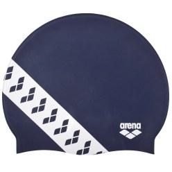 """Arena® Schwimmkappe  """"Team Stripe"""" Schwarz"""