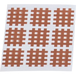 "KS-Medical KS Gittertape ""Cross-Patches"" 180 Pflaster 27x21 mm, Beige"