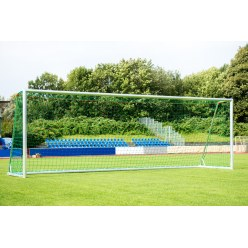 Sport-Thieme Trainings-Großfeldtor 7,32x2,44 m, vollverschweißt, silber, mit integraler Netzaufhängung SimplyFix