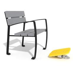 Agapito Einzelsitz mit Fuß-Kipper