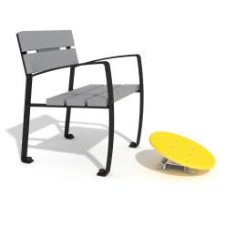Agapito Einzelsitz mit Fuß-Kreisel