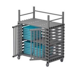 Regalwagen aus Kunststoff mit Zusatzfläche Aqua