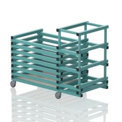 "Transportwagen aus Kunststoff ""Kombi"" Aqua"