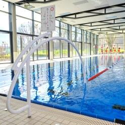 """Sport-Thieme Schwimmautobahn """"Competition"""",  inkl. Durchschwimmbögen Aluminium, weiß"""
