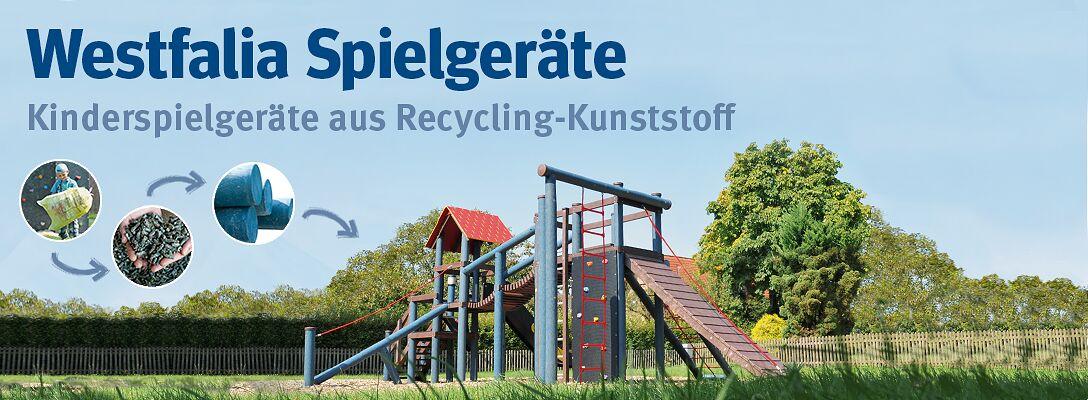 Kinderspielgeräte aus Recycling-Kunststoff